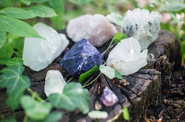 le rayonnement des cristaux favorisant la guérison