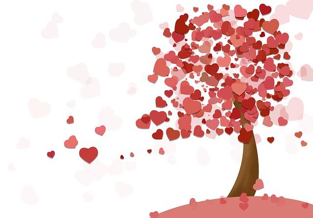 un arbre à coeurs