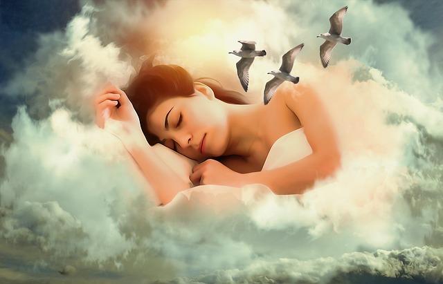 Une femme dans un sommeil profond